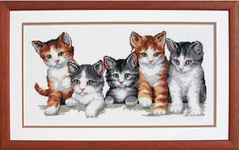 click here to view larger image of Cat Family (counted cross stitch kit)