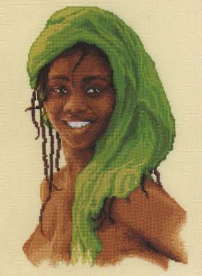 click here to view larger image of Lady In Green (counted cross stitch kit)