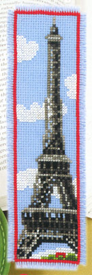 click here to view larger image of Eiffel Tower Bookmark (counted cross stitch kit)