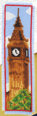 click here to view larger image of Big Ben Bookmark (counted cross stitch kit)