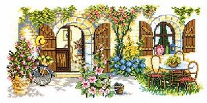 click here to view larger image of Summer Courtyard (counted cross stitch kit)