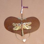 click here to view larger image of Heart With Dragonfly Thread Separator - 4.25 inches (accessory)