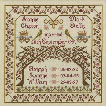 click here to view larger image of Family Tree Sampler - KIT (counted cross stitch kit)