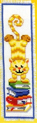 click here to view larger image of Ginger Cat Bookmark (counted cross stitch kit)