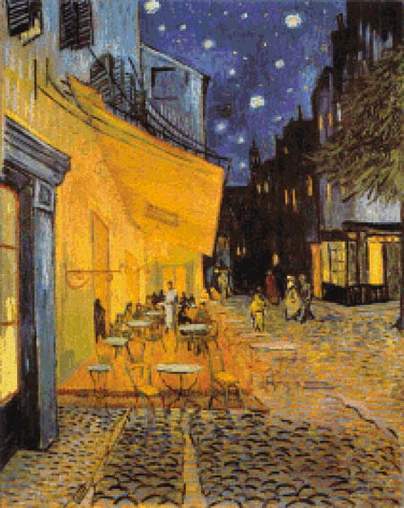 click here to view larger image of Cafe Terrace by Night (chart)