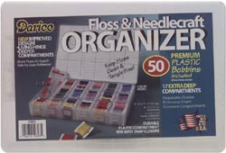 click here to view larger image of Deep Organizer Box with 50 Plastic Bobbins (Storage and Craft Organisers)