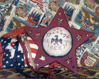 click here to view larger image of Liberty Pincushion (tin star included)  (chart)