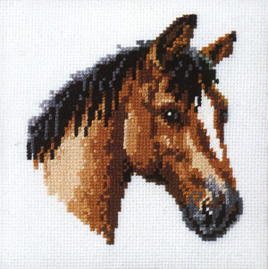 click here to view larger image of Horse Head (counted cross stitch kit)