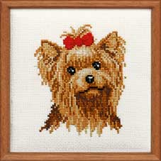 click here to view larger image of Yorkshire Terrier (counted cross stitch kit)