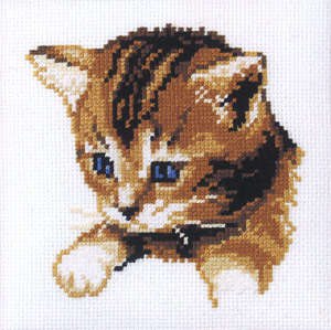 click here to view larger image of Old Blue Eyes (counted cross stitch kit)