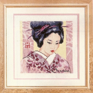 click here to view larger image of Yokohama Beauty (counted cross stitch kit)