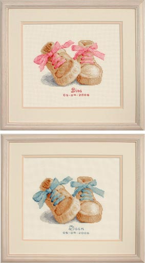 click here to view larger image of Baby Boots (counted cross stitch kit)
