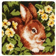 click here to view larger image of Primrose Rabbit (chunky cross stitch kit)