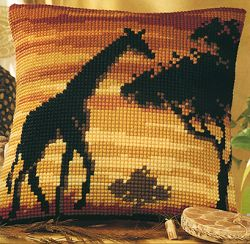 click here to view larger image of Giraffe Silhouette (chunky cross stitch kit)
