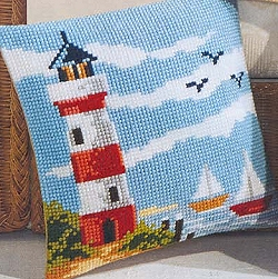 click here to view larger image of Lighthouse (chunky cross stitch kit)