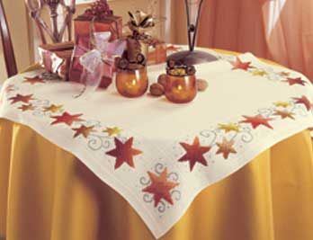 click here to view larger image of Stars Tablecoth (Vervaco) 97875 (counted cross stitch kit)