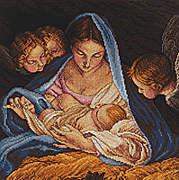 click here to view larger image of Madonna and Angels (counted cross stitch kit)