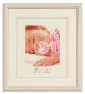 click here to view larger image of Sweet dreams, baby girl (counted cross stitch kit)