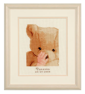 click here to view larger image of My First Teddy (counted cross stitch kit)