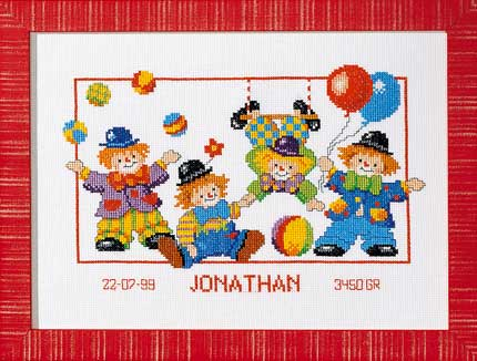 click here to view larger image of Jonathan/Marjan (counted cross stitch kit)