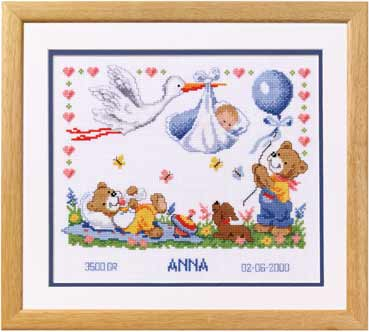 click here to view larger image of Anna (counted cross stitch kit)