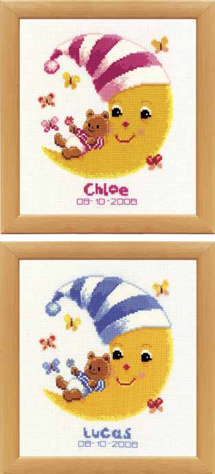 click here to view larger image of Lucas and Chloe (counted cross stitch kit)