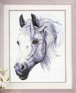 click here to view larger image of White Stallion - Vervaco (70079) (counted cross stitch kit)