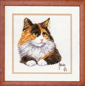click here to view larger image of Calico Cat (counted cross stitch kit)