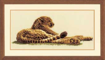 click here to view larger image of Leopard  (counted cross stitch kit)