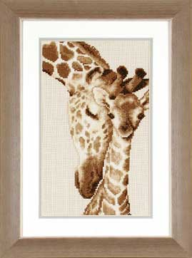 click here to view larger image of Giraffe Family (75.444) (counted cross stitch kit)