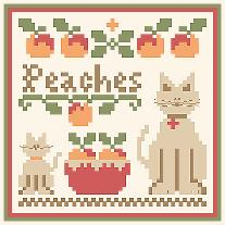 click here to view larger image of Fruit Thread Pack - Peaches (chart with charms/buttons)