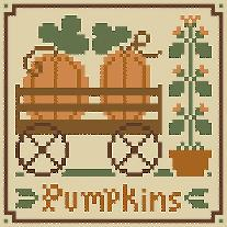 click here to view larger image of Fruit Thread Pack - Pumpkins (chart with charms/buttons)