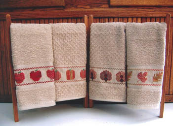 click here to view larger image of Fall Fingertip Towels (chart)
