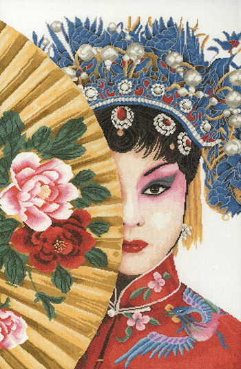 click here to view larger image of Beauty of Asia (counted cross stitch kit)