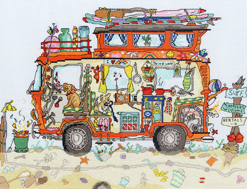 click here to view larger image of Cut Thru Campervan (counted cross stitch kit)