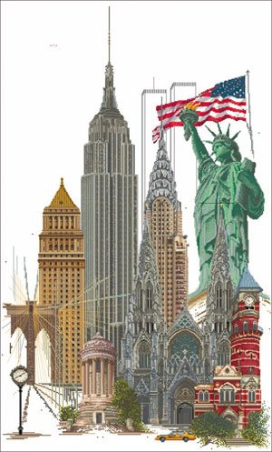 click here to view larger image of New York - Aida (counted cross stitch kit)