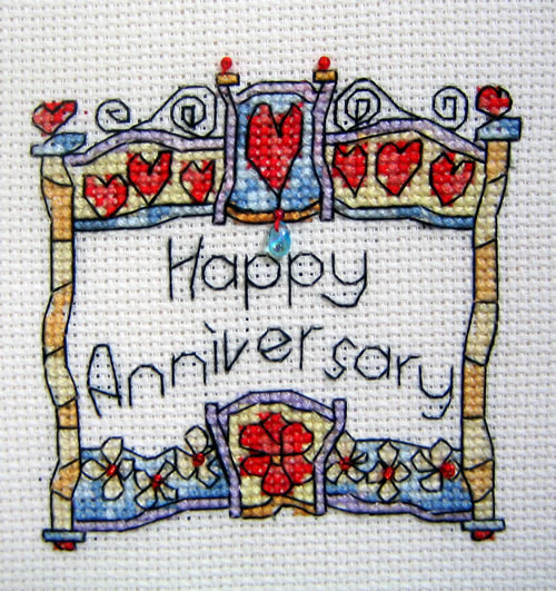 click here to view larger image of Happy Anniversary (chart)