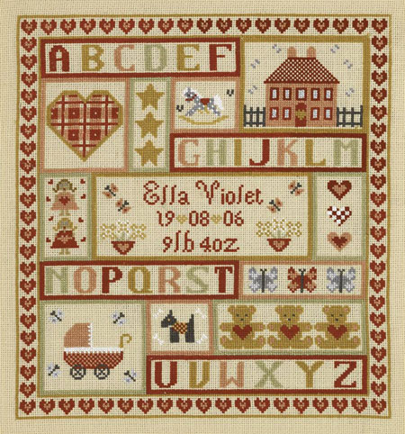 click here to view larger image of Sugar & Spice Patchwork Sampler (KIT) aida (chart)