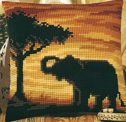 click here to view larger image of Elephant Silhouette (chunky cross stitch kit)