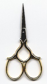 click here to view larger image of Gold handled Epaulette Scissors (accessory)