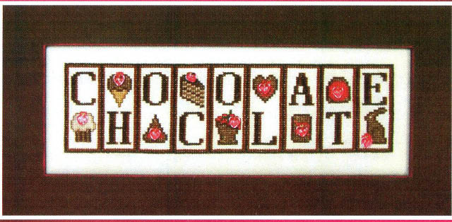 click here to view larger image of Chocolate - Jelly Mini Block (chart with charms/buttons)
