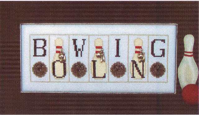 click here to view larger image of Bowling - Mini Blocks (chart with charms/buttons)
