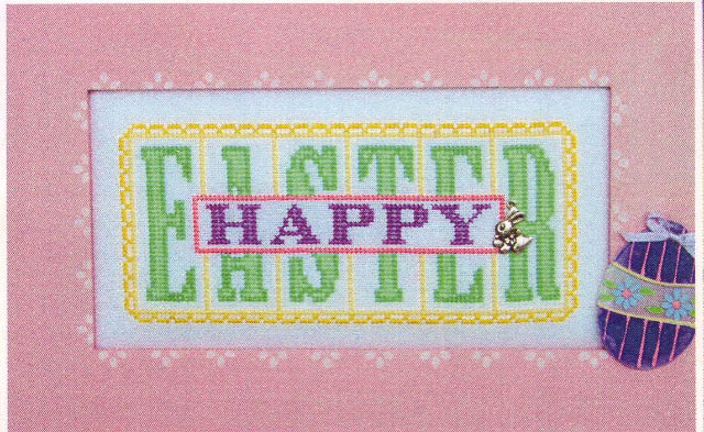 click here to view larger image of Happy Easter - Printers Block (chart)