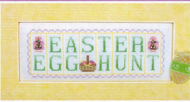 click here to view larger image of Easter Egg Hunt - phrase mini blocks (chart with charms/buttons)