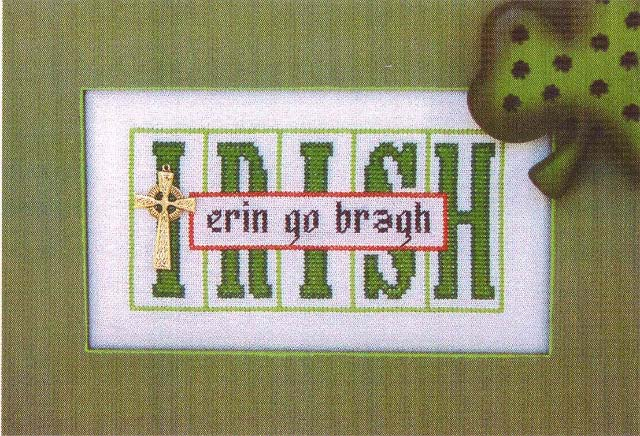 click here to view larger image of Irish - Printers Block (chart with charms/buttons)
