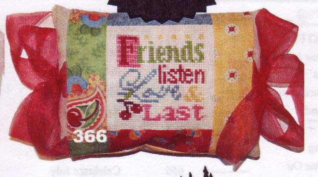 click here to view larger image of Friends Last (counted cross stitch kit)