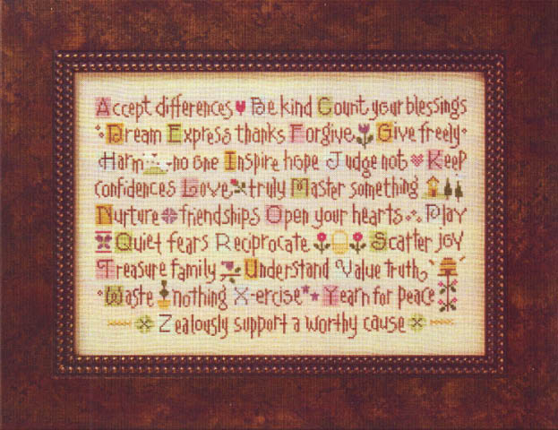 click here to view larger image of ABC Lessons (counted cross stitch kit)