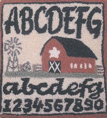 click here to view larger image of Barn Sampler (Punchneedle w/fabric) (Punchneedle)