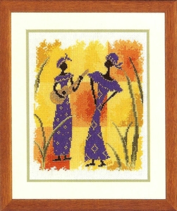 click here to view larger image of African Melody (counted cross stitch kit)