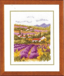 click here to view larger image of Lavender Village (70.091) (counted cross stitch kit)